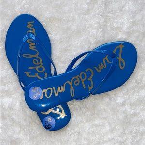 Sam Edelman Oliver Patent Leather Thong Flip Flops